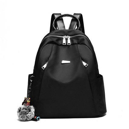 Рюкзак жіночий. Чорний, фото 2