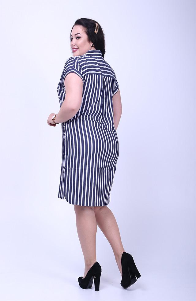 Фото-1 Летнего платья рубашки коттон Марина-1 батал