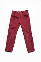 Детские теплые брюки-скинни для девочек с начесом бордо (от 3 до 7 лет) (КАР 03-00559-1)