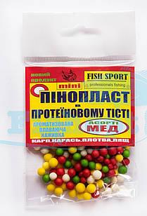 Пенопласт в протеиновом тесте Fish Sport МЕД (микс)