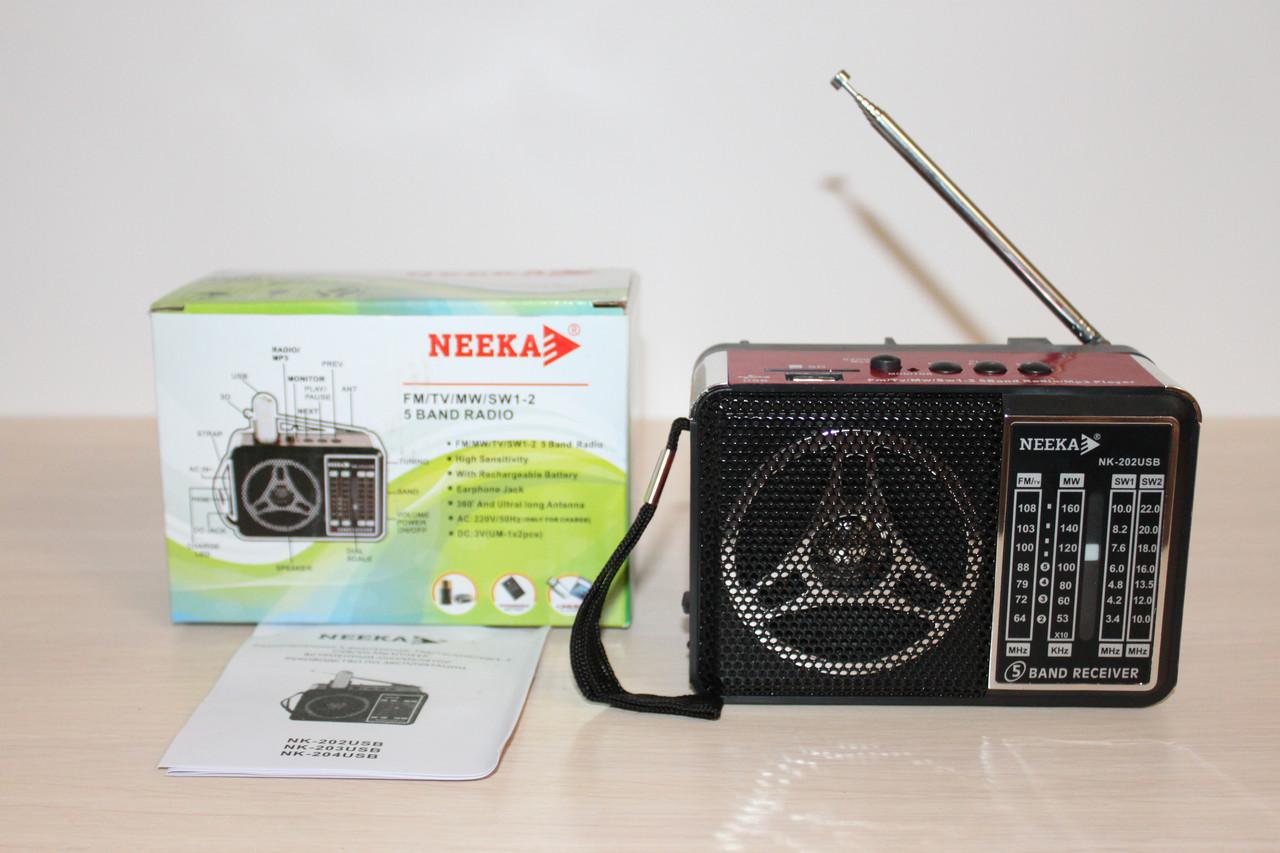 Радиоприёмник Neeka NK-202 USB
