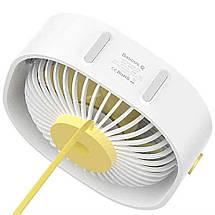 Настольный вентилятор Baseus Flickering Desktop Fan CXYE-02 (Белый), фото 2