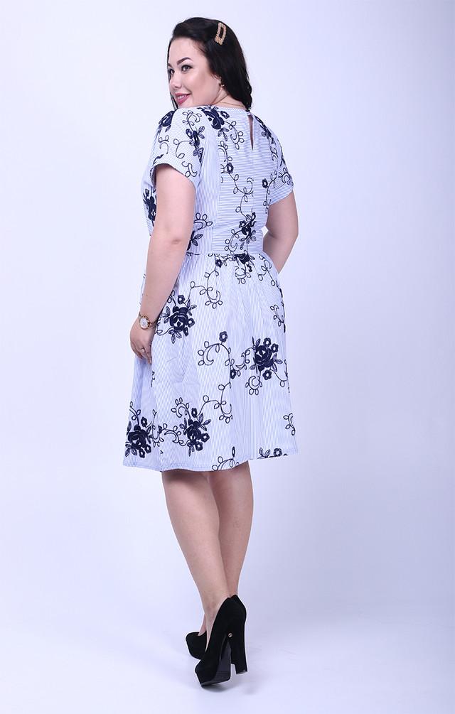 Фото-1 Летнего хлопкового платья Алёна батал