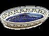 Большое овальное керамическое блюдо сервировочное 37 х 23 Cobalt shine