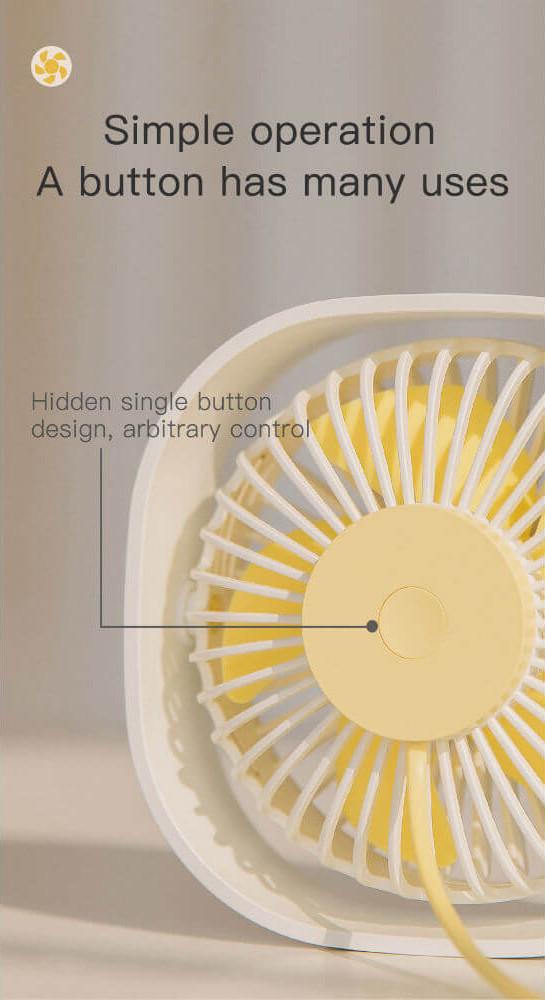 Настольный вентилятор Baseus Flickering Desktop Fan CXYE-02 Белый