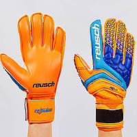 Перчатки вратарские с защитными вставками на пальцы FB-915-1 REUSCH