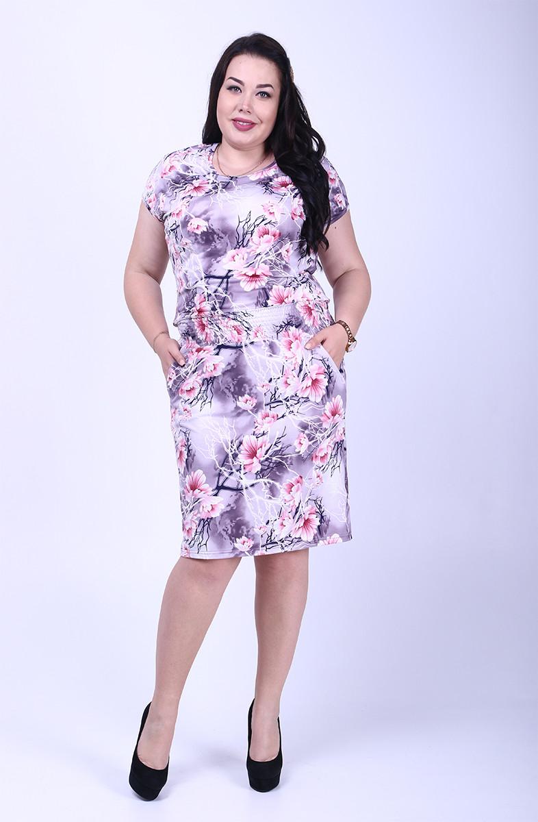 Платье батальное летнее Зарина-2