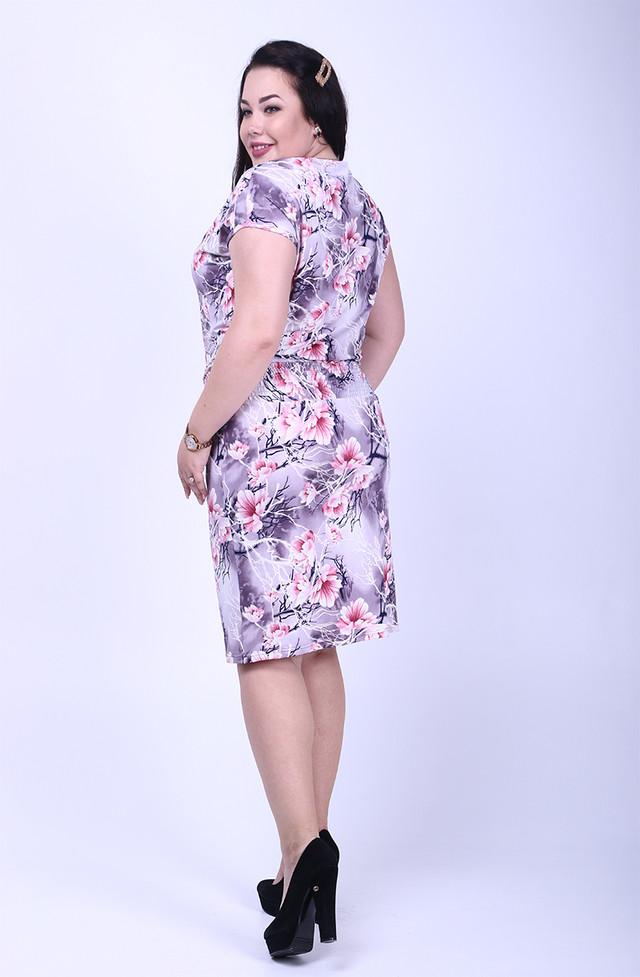 Фото-1 Платья батального летнего Зарина-2