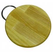 Доска деревянная разделочная круглая с металлической ручкой АФК 027