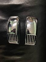 Audi A6 C4 1994-1997 гг. Решетка на повторитель `Прямоугольник` (2 шт, ABS)