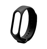 Ремешок Silicone для фитнес-браслета Xiaomi Mi Band 3 / Mi Band 4 Black