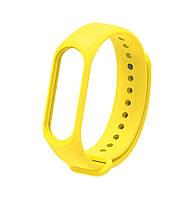 Ремешок Silicone для фитнес-браслета Xiaomi Mi Band 3 / Mi Band 4 Yellow