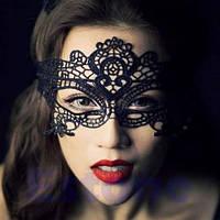 Ажурная карнавальная маска классика , фото 1