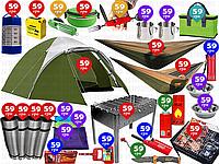 28пр. Двухслойная палатка 68041 Montana X4 Tent Pavillo by Bestway в наборе (мангал, гамаки, карематы и д.р.)