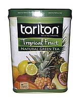 Чай зеленый с тропическими фруктами Tarlton Green Tea Tropical Fruit 250 г в металлической банке