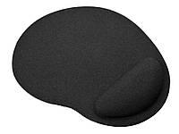Килимок для миші з подушкою під зап'ястя Wrist Protect Чорний