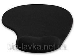 Коврик для мыши с подушкой под запястье Wrist Protect  Черный
