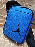 (18*14-маленький)Барсетка jordan сумка спортивные мессенджер для через плечо Унисекс ОПТ, фото 2