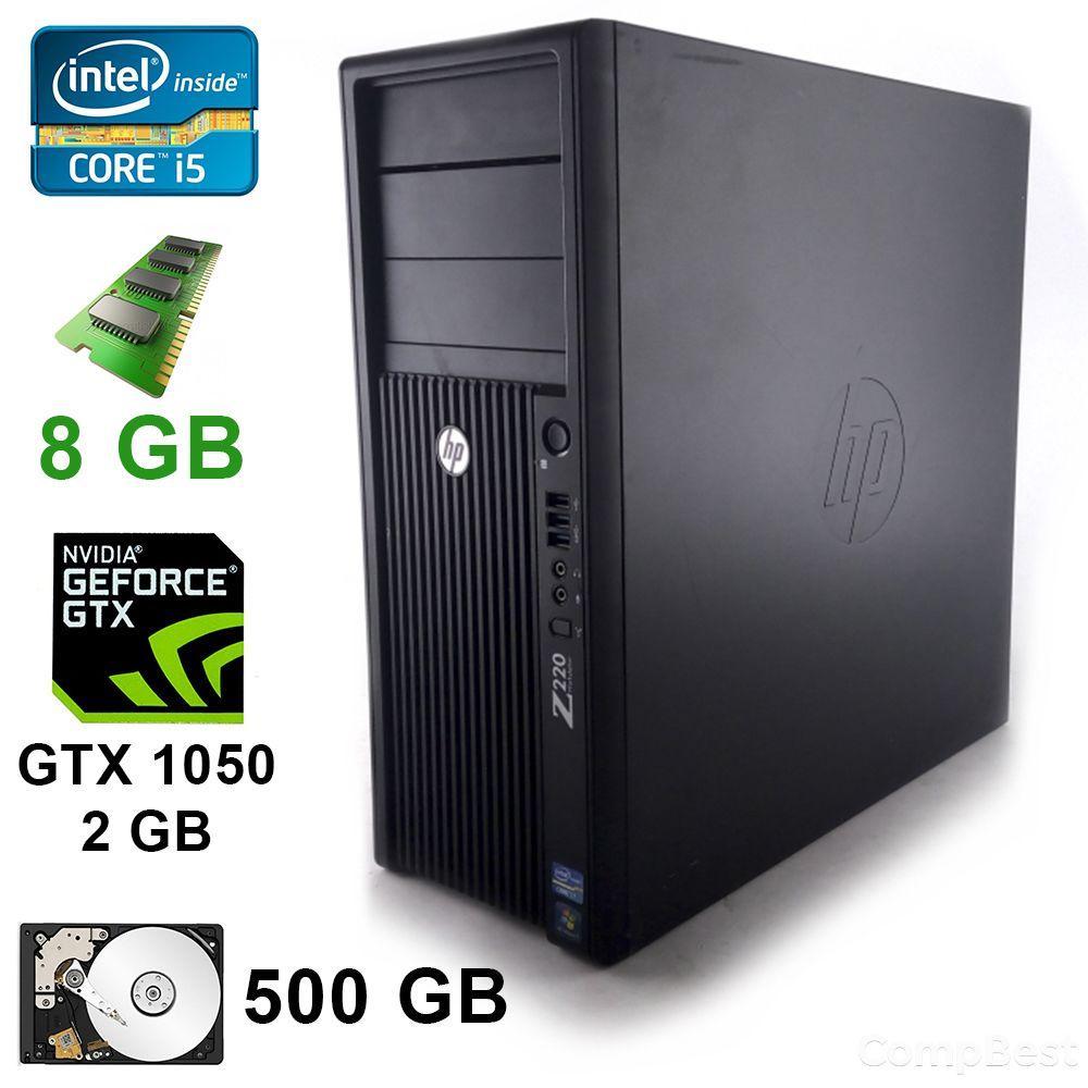 HP WorkStation Z220 MT / Intel® Core™ i5-3470 (4 ядра по 3.60 GHz) / 8 GB DDR3 / 500 GB / GeForce GTX1050 2GB DDR5 128 bit / DVI, DP, HDMI