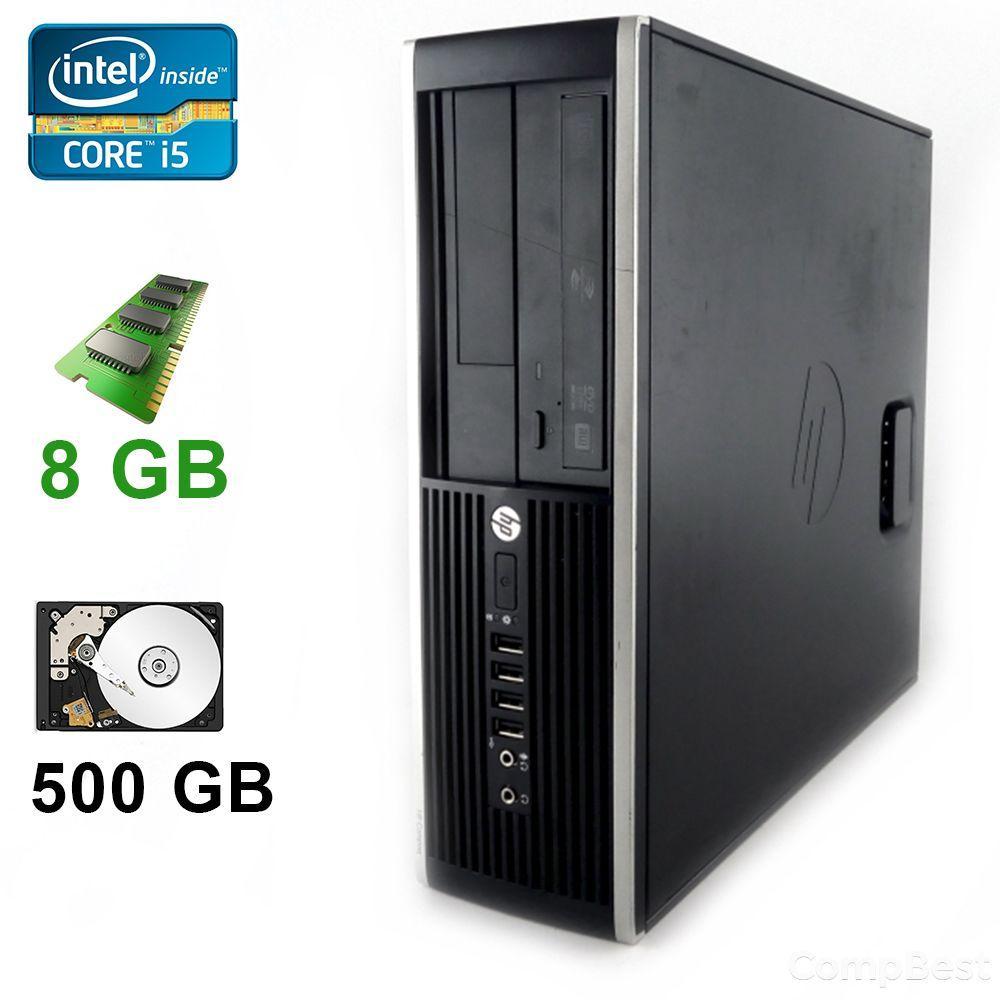 HP Compaq 8200 Elite SFF / Intel® Core™ i5-2400 (4 ядра по 3.40 GHz) / 8GB DDR3 / 500 GB HDD / GeForce 210 1GB DDR3 64 bit / DVI, VGA, HDMI