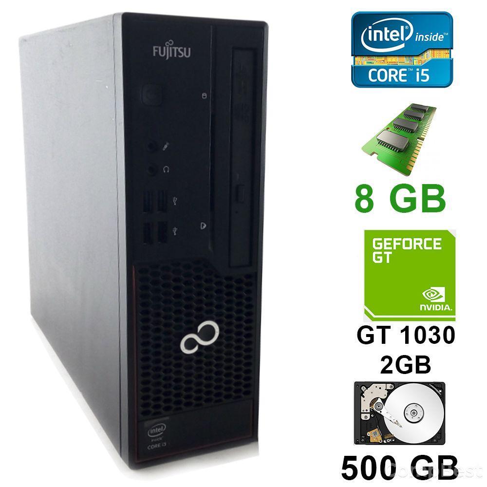 Fujitsu Esprimo C710 SFF / Intel® Core™ i5-3470 (4 ядра по 3.60 GHz) / 8 GB DDR3 / 500 GB HDD / GeForce GT 1030 2GB DDR4 64 bit Low Profile / DVI,