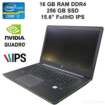 "Ноутбук HP ZBook Studio G4 / 15.6"" / Intel Core i7-7700HQ (4(8)ядра по 2.8GHz) / 16GB RAM DDR4 / 256Gb SSD / nVidia Quadro M1200 4Gb GDDR5 128Bit /, фото 2"
