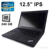 """Lenovo ThinkPad X250 / 12.5"""" / Intel Core i5-5200U (2(4)ядра по 2.2GHz) / 8 GB / 240 GB SSD / WEB Camera, Mini DisplayPort, USB 3.0, Card reader"""