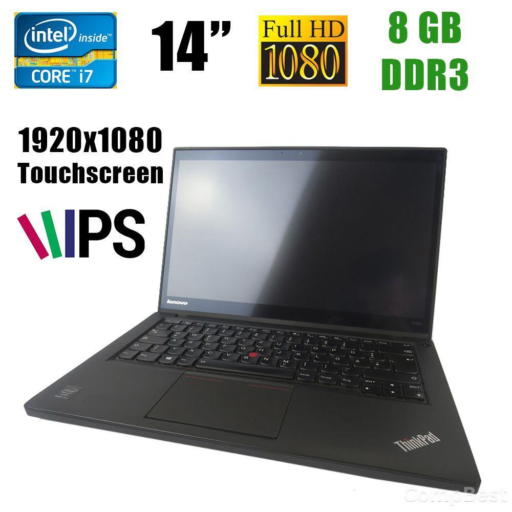 """Lenovo T440s / 14"""" (1920x1080) IPS / Intel® Core™ i7-4600U (2(4)ядра по 2.1 - 3.3GHz) / 8GB DDR3 / 240GB SSD / VGA, miniDP, USB 3.0"""