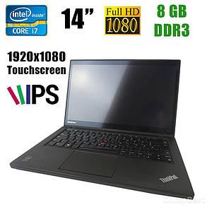 """Lenovo T440s / 14"""" (1920x1080) IPS / Intel® Core™ i7-4600U (2(4)ядра по 2.1 - 3.3GHz) / 8GB DDR3 / 240GB SSD / VGA, miniDP, USB 3.0, фото 2"""