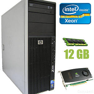 HP Workstation Z400 / Intel Xeon E5540 (4(8) ядра по 2.53-2.8GHz) / 12GB DDR3 / 160GB HDD, 10'000 RPM  / NVIDIA Quadro FX 1800 192-bit / DVD-RW / БП, фото 2