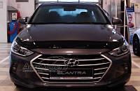 Hyundai Elantra 2016 гг. Дефлектор капота (SIM)