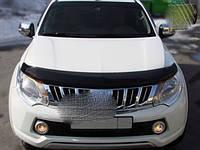 Mitsubishi Pajero Sport 2015↗ гг. Дефлектор капота (SIM)