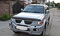 Mitsubishi Pajero Sport 1996-2007 гг. Дефлектор капота (SIM)