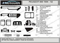 Peugeot 806 Акция! Накладки на панель (под дерево)