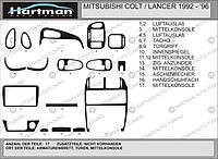 Mitsubishi Lanceк Colt 1992-1996 Акция! Накладки на панель (под карбон)