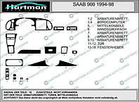 Saab 900 Акция! Накладки на панель (дерево)