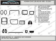 Honda Civic 1995-2001 АКЦИЯ! Накладки на панель под дерево