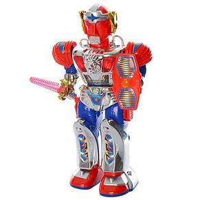 Робот, звук (рус), свет, ходит, поворачивает корпус, на бат-ке, в кор-ке, фото 2