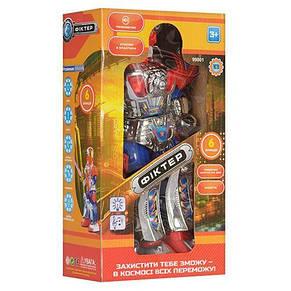 Робот, звук (рус), свет, ходит, поворачивает корпус, на бат-ке, в кор-ке, фото 3