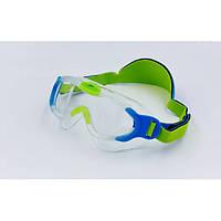 Очки-полумаска для плавания детские SPEEDO SEA SQUAD MASK (синий-зеленый)