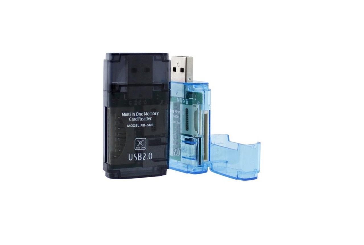 Картридер SY-568 MicroSD/SD/M2/ProDuo