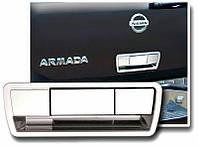Nissan Armada Хром накладка на багажник (пласт)