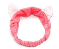 Косметическая повязка на голову с ушками Double Dare Hair Band ярко-красная (PO0113)