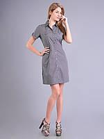 Платье - халат женское летнеее серое, хлопок, 50 р-р, фото 1