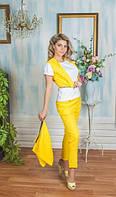 Костюм Желтый брюки и жилетка трансформер