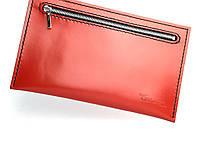 Кожаный клатч-органайзер Tsar.store, цвет красный, ручной работы