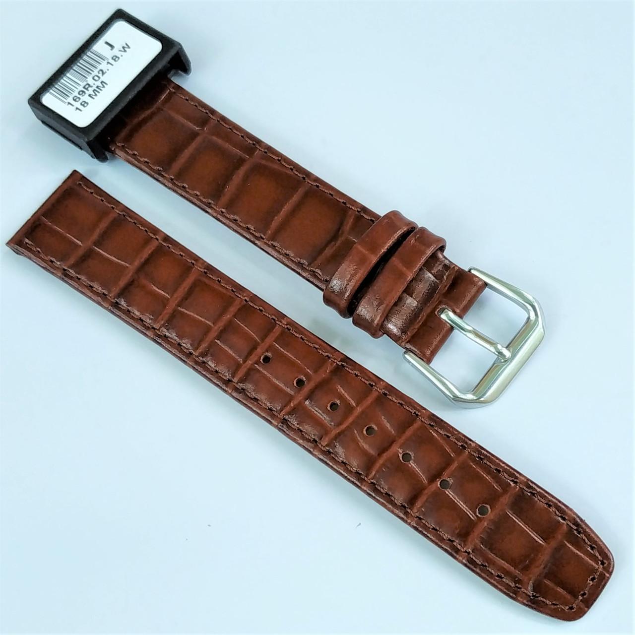 18 мм Кожаный Ремешок для часов CONDOR 169.18.02 Коричневый Ремешок на часы из Натуральной кожи