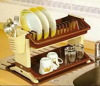 Сушка для посуды 2-х ярусная Люкс