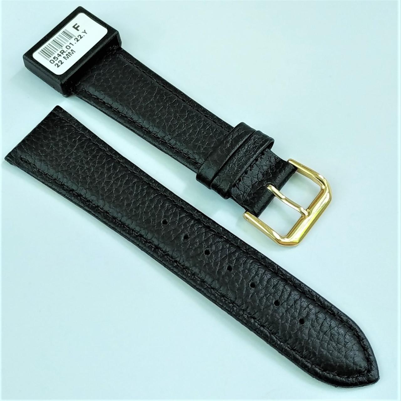 22 мм Кожаный Ремешок для часов CONDOR 054.22.01 Черный Ремешок на часы из Натуральной кожи