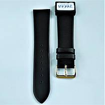 22 мм Кожаный Ремешок для часов CONDOR 081.22.01 Черный Ремешок на часы из Натуральной кожи, фото 2